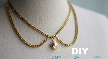 Necklace today we found another easy do it yourself tutorial on fashionrolla a diy chain collar necklace the necklaces design is simple but still very elegant solutioingenieria Image collections